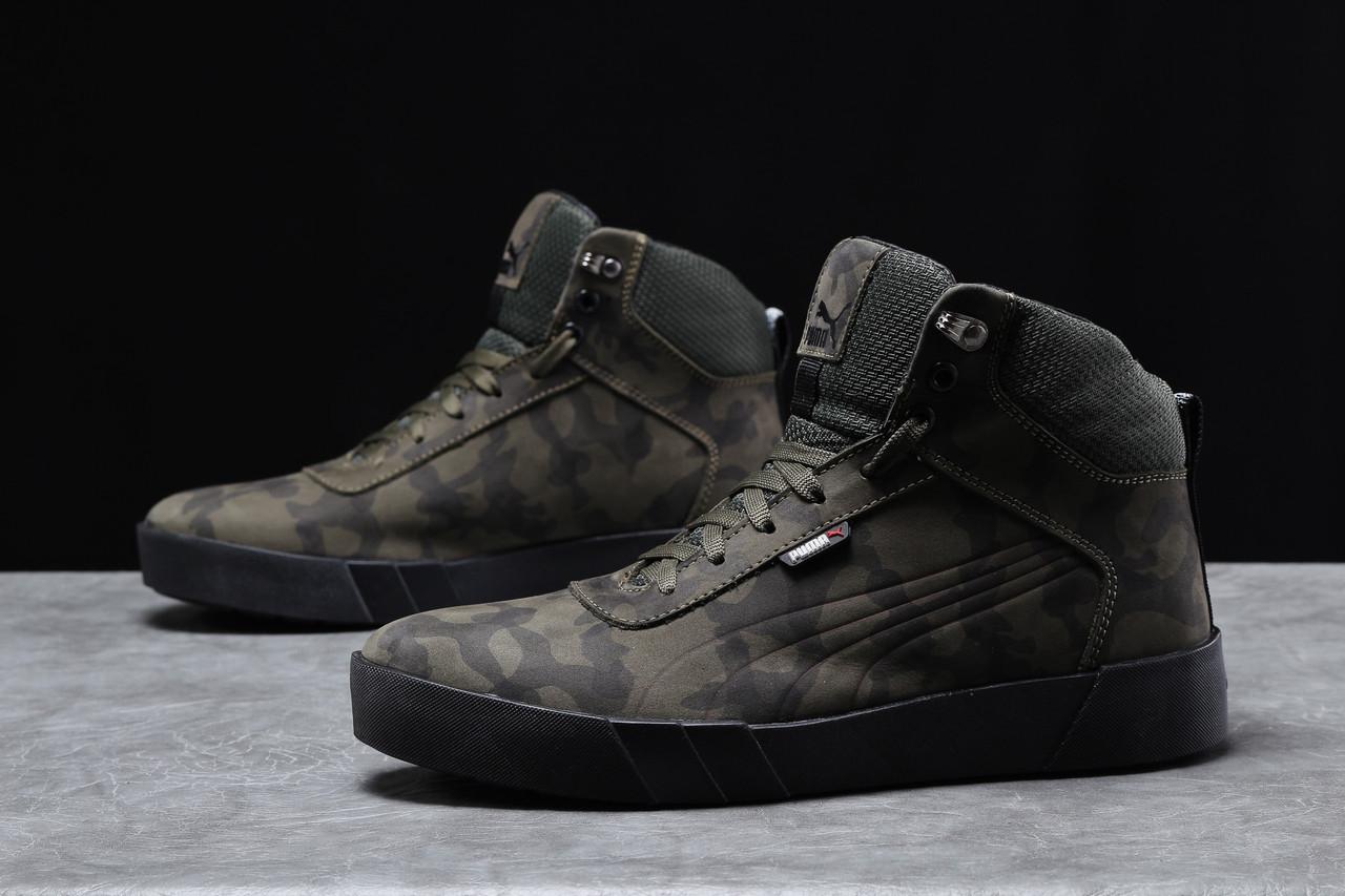 Зимние мужские кроссовки 31694, Puma Desierto Sneaker, хаки, [ 40 41 42 43 44 45 ] р. 40-26,0см.