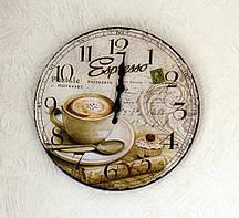Настенные часы Кофе МДФ d34см Гранд Презент 4258800-2 эспрессо