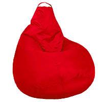 Безкаркасне м'яке Крісло мішок Груша Пуф стандартний доросла XL 120х90см Червоний пуфик