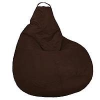 Бескаркасное мягкое Кресло мешок Груша Пуф стандартный взрослый XL 120х90см Коричневый пуфик