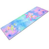 Коврик для йоги замшевый (Yoga mat) двухслойный 3мм Record FI-5662-33