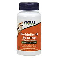 Пробиотический Комплекс Probiotic 25 Billion, Now Foods, 100 гелевых капсул
