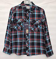 Байкова сорочка для  хлопчика  A-yugi синя клітина