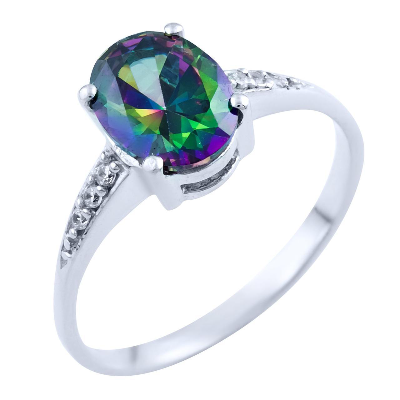 Серебряное кольцо DreamJewelry с натуральным мистик топазом (1734322) 18 размер
