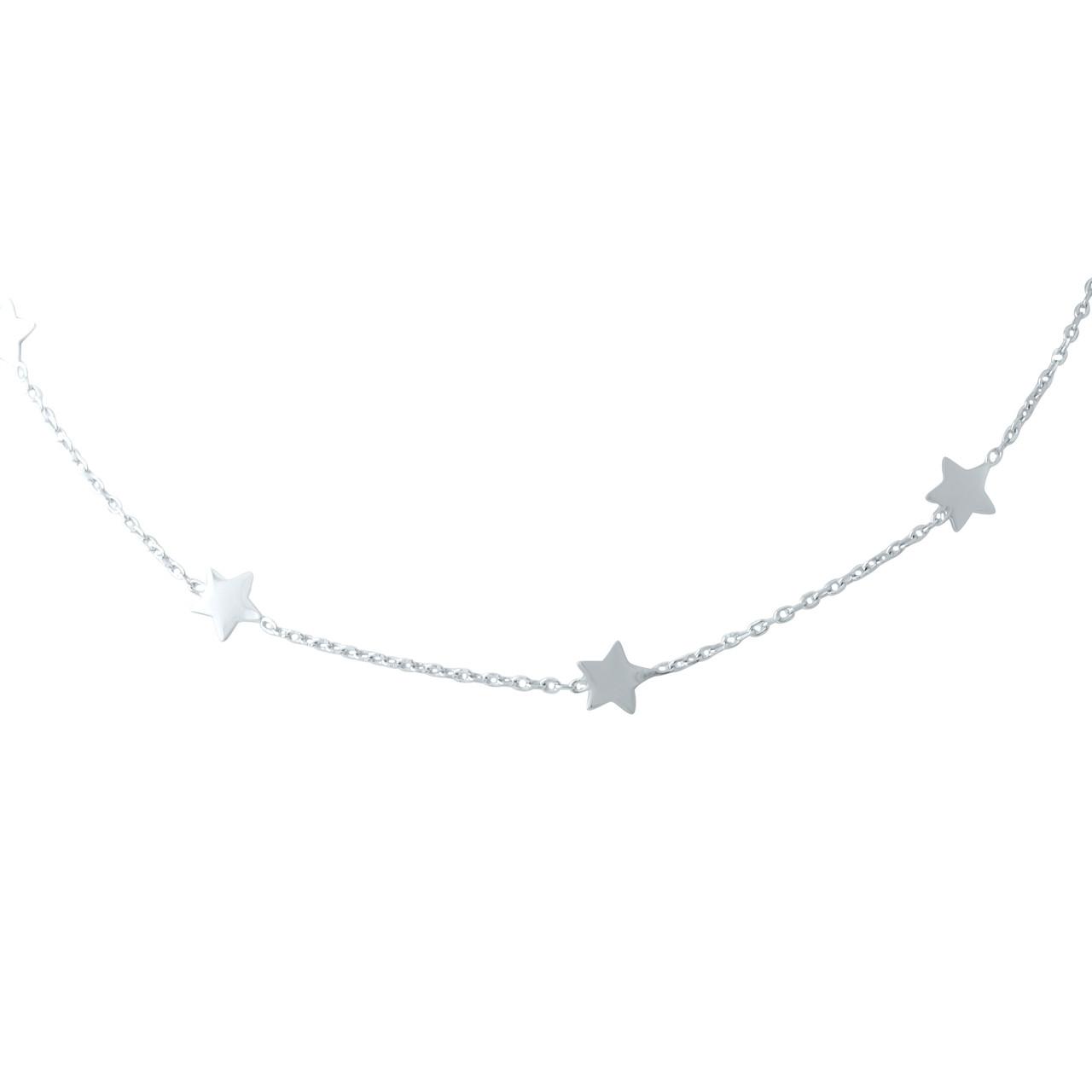 Срібне кольє DreamJewelry без каменів (1936016) 360400 розмір