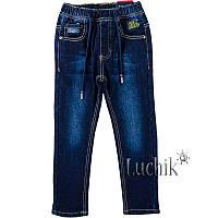"""Джинсы для мальчика на флисе. Размер: 116. темно-синий джинс. TM """"TAURUS"""" B09. Венгрия."""