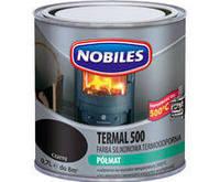 Термостойкая краска Nobiles Termal 500 Серебристая, 0.7 л