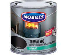 Термостойкая краска Nobiles Termal 500 Чёрная, 0.7 л