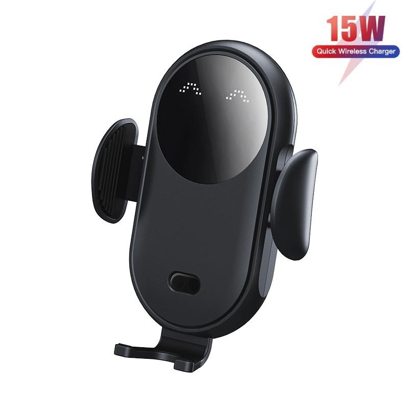 Беспроводное автомобильное зарядное устройство 15W Fast Charge для телефона держатель на дефлектор машины