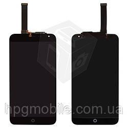 """Дисплейный модуль (дисплей + сенсор) для Meizu MX4 5.3"""" (M461), черный, оригинал"""