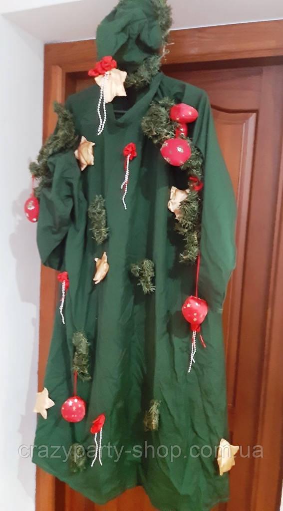 Карнавальный костюм Новогодняя елка взрослый  б/у