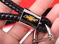 Кожанный автомобильный брелок на ключи авто Chevrolet отвертка
