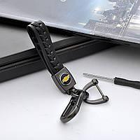 Кожанный автомобильный брелок на ключи авто Chevrolet с Карабином отвертка
