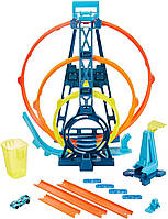 Hot Wheels Трек Хот Вилс Тройная петля Hot Wheels Track Builder Unlimited Triple Loop Kit GLC96, фото 1