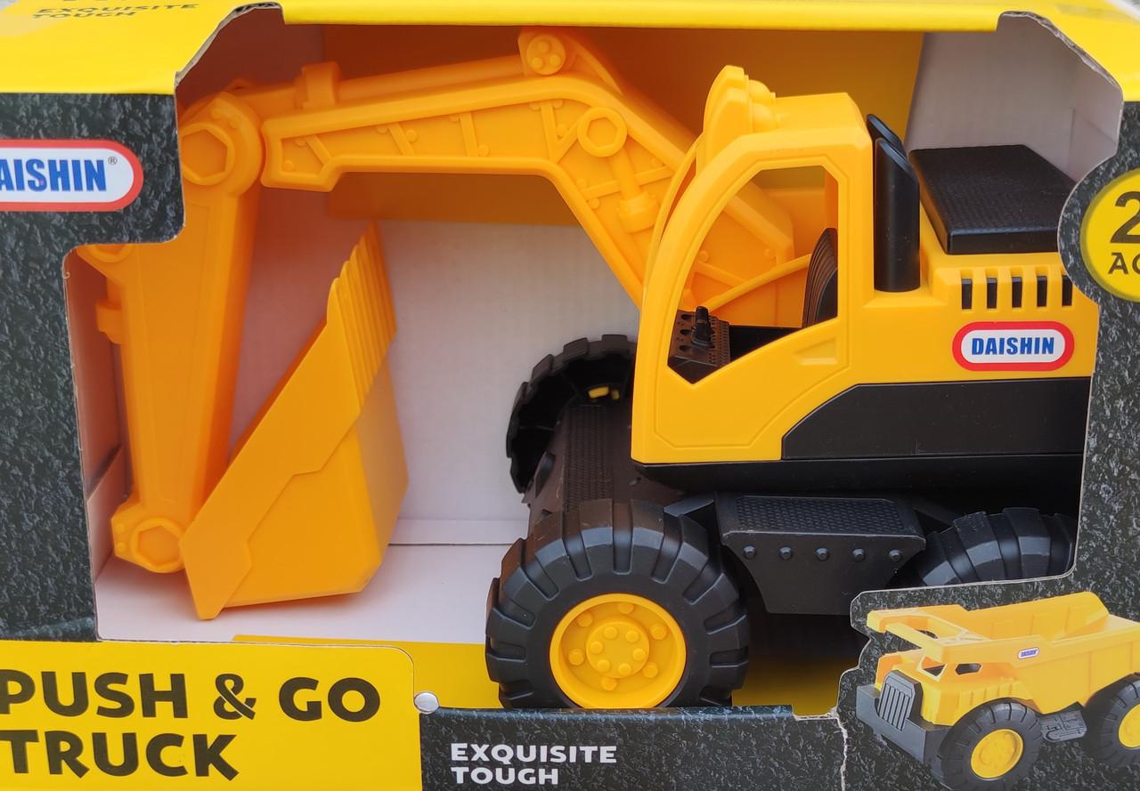 Детский игрушечный Экскаватор строй техника игрушка Daishin желтый 26см
