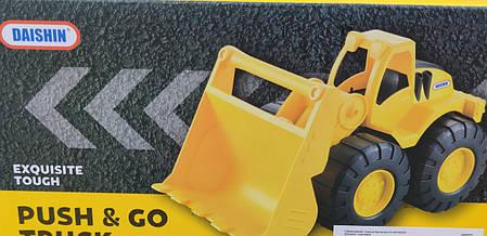 Детский игрушечный Самосвал машина грузовик строй техника игрушка Daishin желтый 26см, фото 2