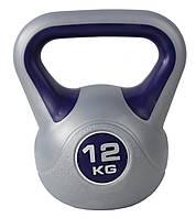 Гиря для кроссфита SportVida 12 кг SV-HK0082, эргономичная ручка. Для спорта, дома, спортзала