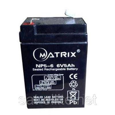 Батарея к ИБП Matrix 6V 5AH (NP5-6)