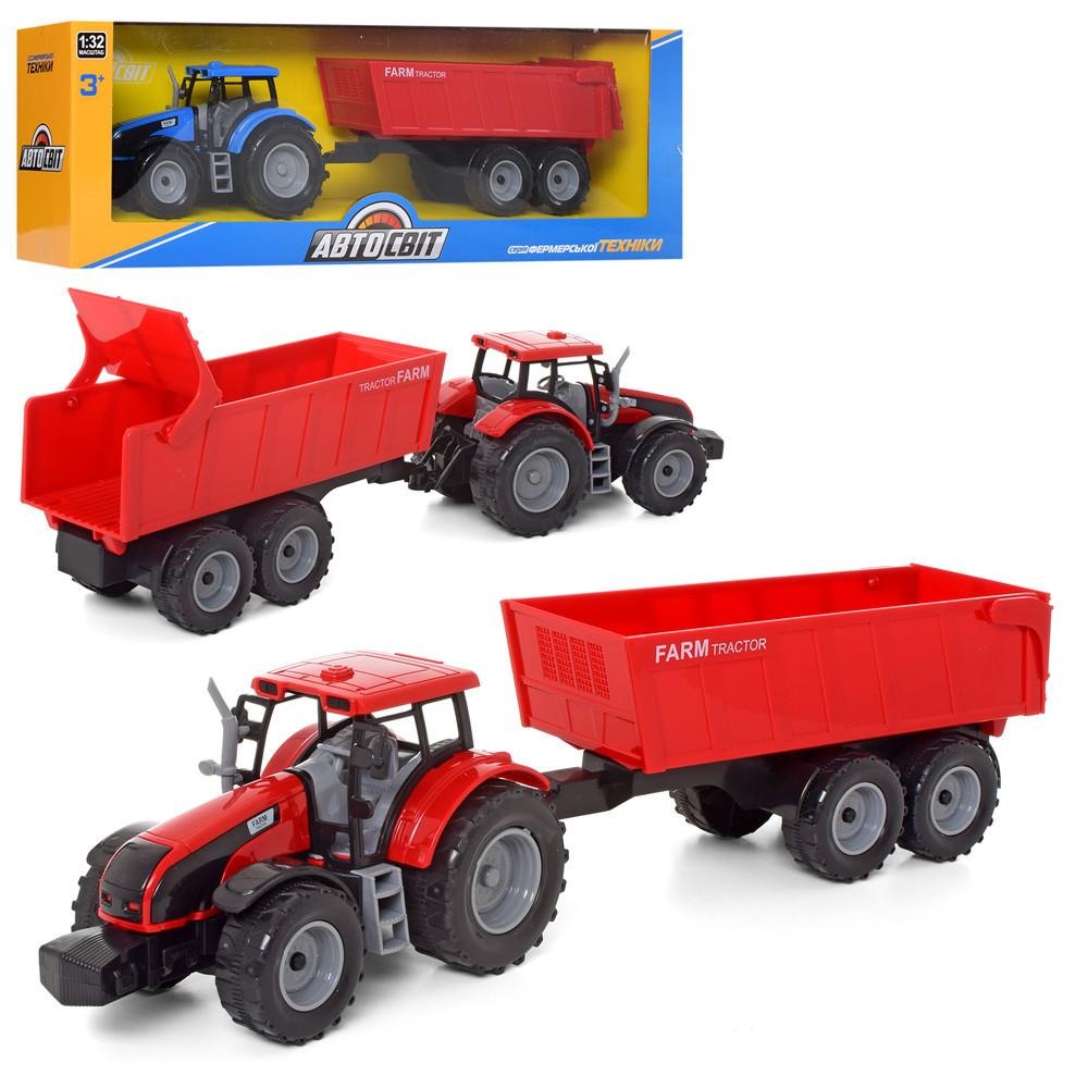 Детский игрушечный трактор игрушка красный