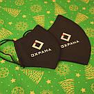 Маска с логотипом компании на заказ черная хлопковая трехслойная, фото 2