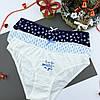 Подарочный набор женский Новогодний трусики 3шт Снежинки+носки, фото 4