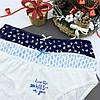 Подарочный набор женский Новогодний трусики 3шт Снежинки+носки, фото 5
