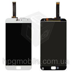 """Дисплейный модуль (дисплей + сенсор) для Meizu MX4 Pro 5.5"""", белый, оригинал"""