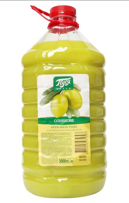 Крем мило антибактеріальне Оливка 5 л Пуся