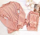 Пижама женская брючная велюровая 42-44,44-46, фото 5