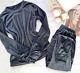 Пижама женская брючная велюровая 42-44,44-46, фото 3