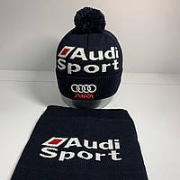 Набор (шапка+баф)  Audi Sport