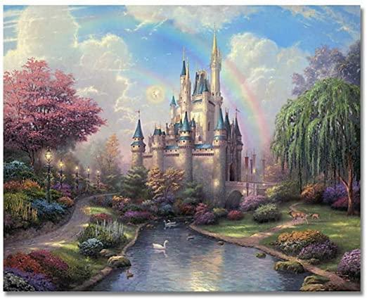 Картины по номерам 40х50 см DIY Замок (NX 9259)