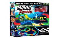Детская гибкая игрушечная Дорога Magic Tracks 220 деталей (9588) автотрек детский с гибкой свитящою трассой.