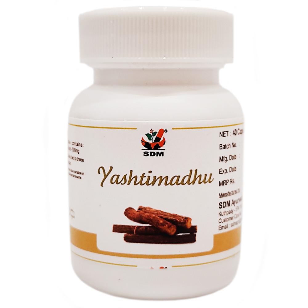 Яштимадху капсулы (Yashtimadhu capsules, SDM), 40 капсул - Аюрведа премиум качества