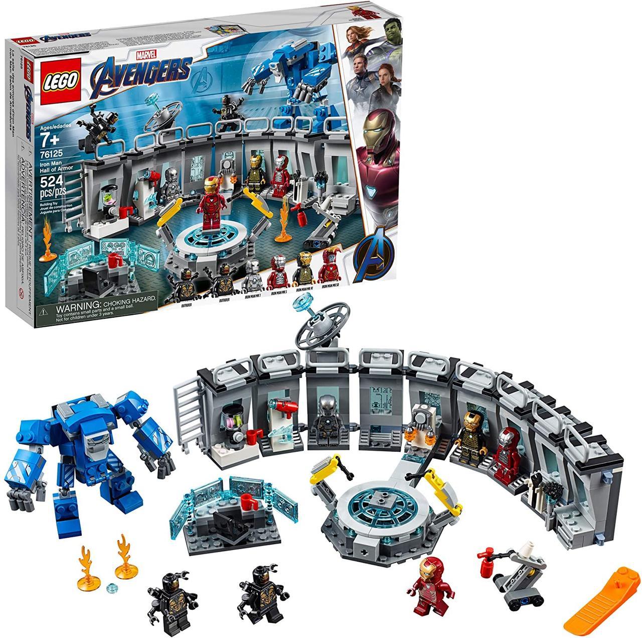 LEGO Super Heroes Лаборатория Железного Человека LEGO Marvel Avengers Iron Man Hall of Armor 524 эл