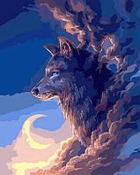 Картина по номерам 40х50 см DIY Волк в облаках (NX 9233)
