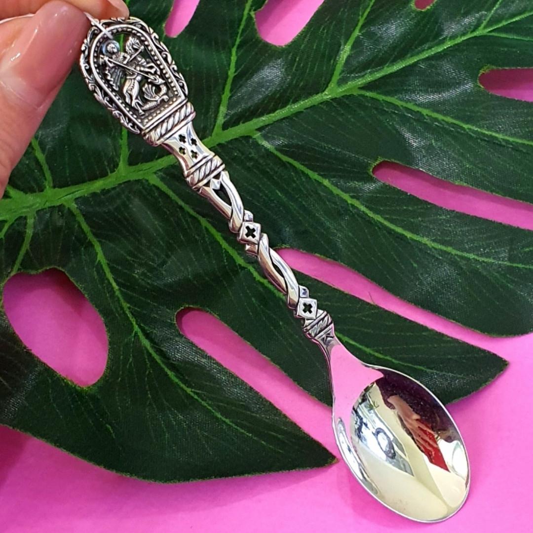 Серебряная ложка Георгий Победоносец - Чайная серебряная ложка - Подарочная ложка из серебра