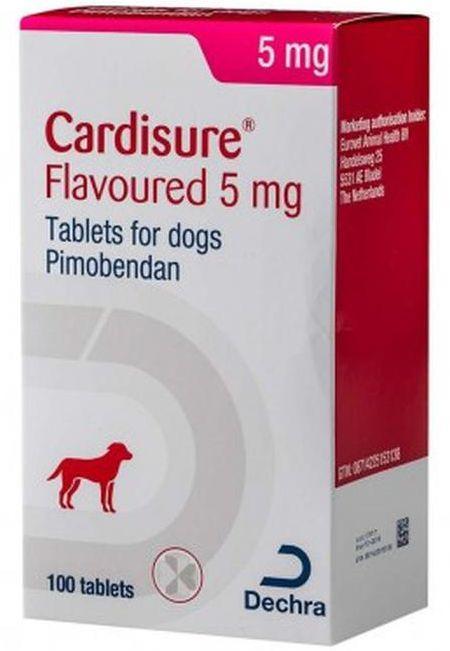 КАРДИШУР 5 мг, CARDISURE поддержка при сердечной недостаточности у собак, 10 таблеток