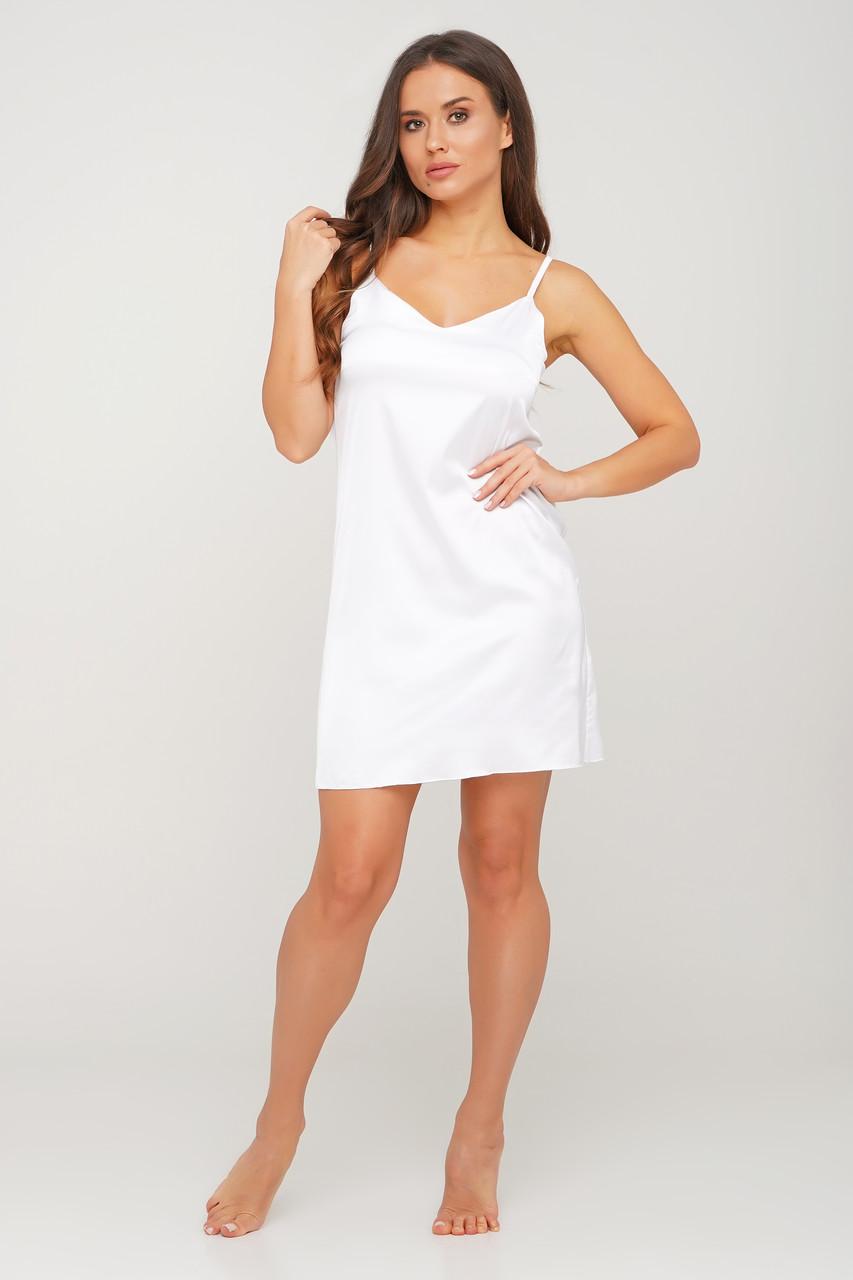 Женское шелковое платье-пеньюар