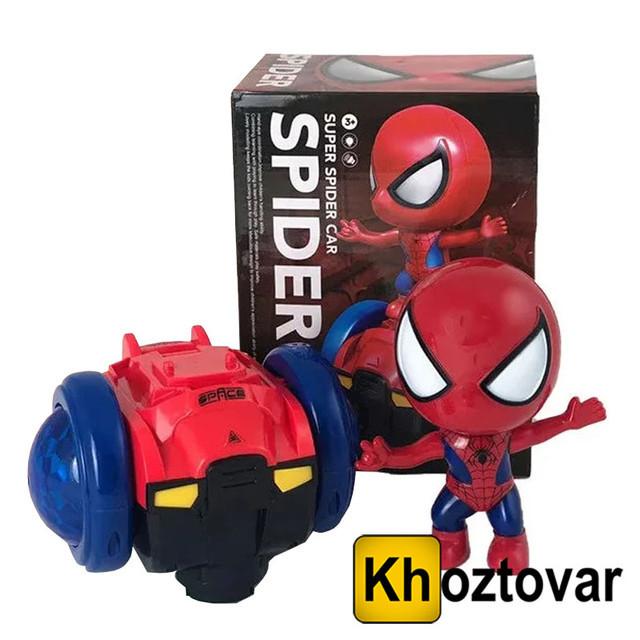 Интерактивная детская машинка с музыкой и светом Super Spider Car