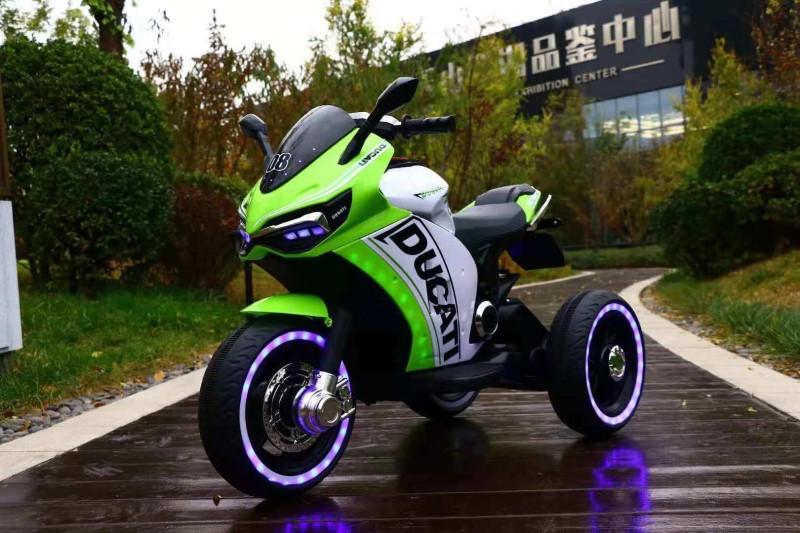 Дитячий електромобіль Мотоцикл M 4053 L-5, шкіра, світло коліс, дитячий електромобіль