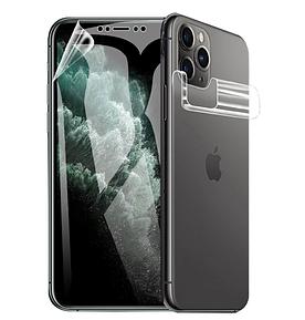 Гідрогелева захисна плівка на телефон iPhone 5 Комплект (на екран і на задню кришку)