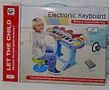 Многофункциональное детское пианино-синтезатор с USB-входом, микрофоном на съёмных ножках, со стульчиком ВВ 45, фото 6