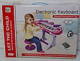 Многофункциональное детское пианино-синтезатор с USB-входом, микрофоном на съёмных ножках, со стульчиком ВВ 45, фото 5