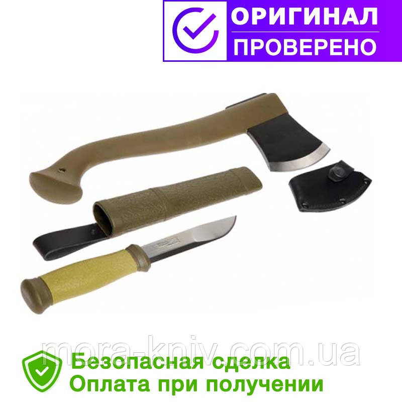 Набор MORA (топор - Outdoor Axe Camp 1991 и нож MORA Outdoor 2000) Morakniv
