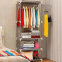 Напольная вешалка для хранения одежды, открытый шкаф органайзер для одежды, фото 1