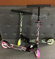 Самокат двухколесный Amigosport CONNECT - Розовый, фото 3