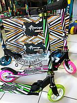 Самокат двухколесный Amigosport CONNECT - Розовый, фото 2