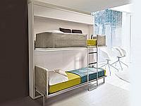 Откидная кровать горизонтальная трансформер 2-ярусная, фото 1