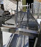 Сушка стеллаж 4  ур. (4 тарелки + 1 поддон)1200х320х1700, фото 7